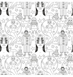 vintage circus seamless pattern vector image