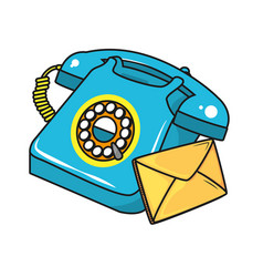 vintage telephone cartoon vector image