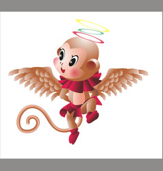Winged monkey vector