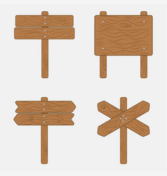 wooden sign boards and signpost vector image
