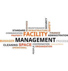 Word cloud facility management vector