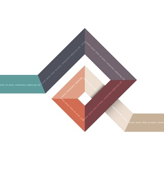 Abstract geometric shape for design vector