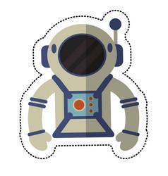 Astronaut suit and helmet shadow vector