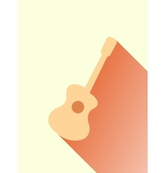Classic Acoustic Guitar vector image vector image