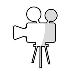 film video camera icon vector image