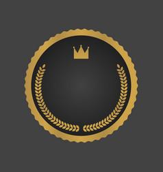 golden and black luxury metallic badge template vector image