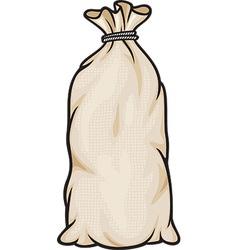 Grain in burlap sacks vector image