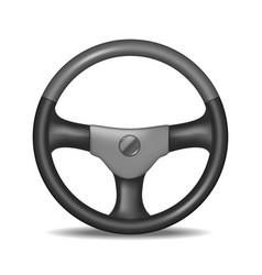 Realistic detailed steering wheel vector
