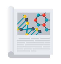 scientific journal icon vector image