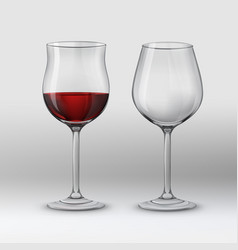 types of glasses vector image vector image