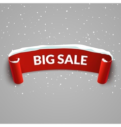 Winter Bug sale background with red realistic vector image