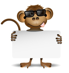 monkey with sunglasses vector image vector image