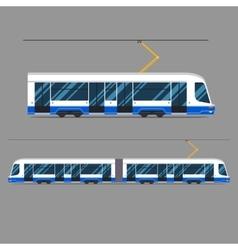 set mass rapid transit urban vehicles vector image