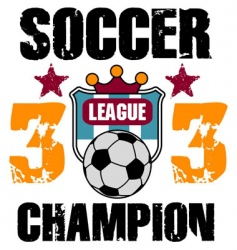 soccer print vector image