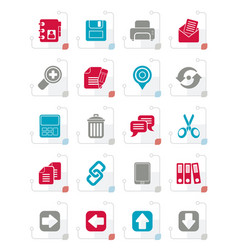stylized internet interface icons vector image