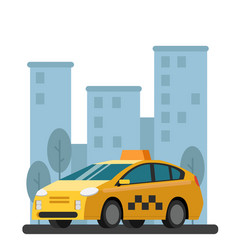 taxi car picture in flat vector image vector image