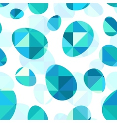 Blue diamond eggs seamless pattern vector image vector image