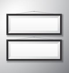 Picture Frames Black Horizontal vector image