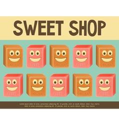 sweet shop blue vector image
