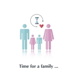 Time for a family vector image vector image