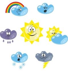 Weather cartoon set 001 vector image vector image