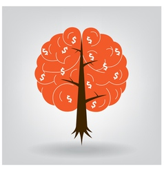 Brain tree vector image vector image