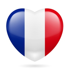 Heart icon of France vector image