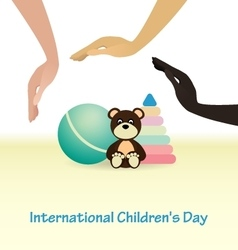 International Childrens Day concept vector image