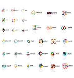 logo mega collection abstract symmetric geometric vector image