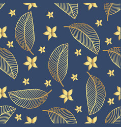 seamless tropical pattern tropical gold vector image vector image