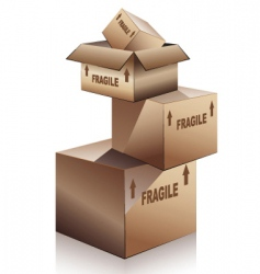shipping boxes vector image vector image