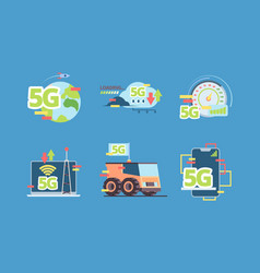 5g technology future fast online connection vector image