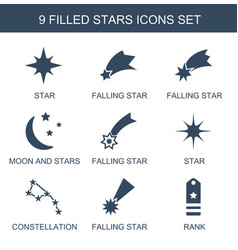 9 stars icons vector image