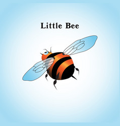 a little bee flying in the vector image