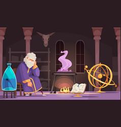 Alchemist cartoon vector
