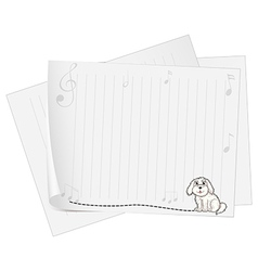 An empty piece of paper with an animal design vector image
