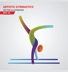artistic gymnastics color sport icon design vector image