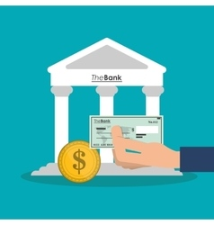 Bank coin and check of money concept vector