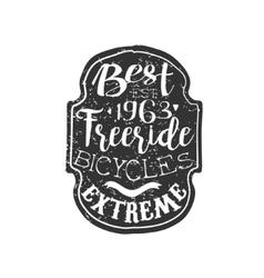 Best Freeride Vintage Badge vector image