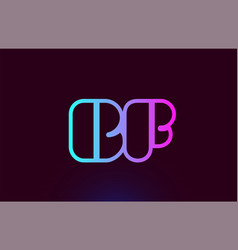 Bf b f pink line alphabet letter combination logo vector