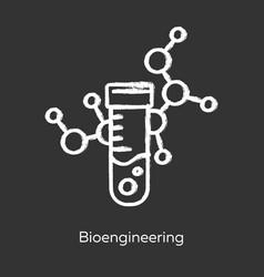 Bioengineering chalk icon biological engineering vector