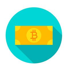 bitcoin banknote circle icon vector image
