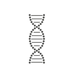 black dna helix icon design vector image