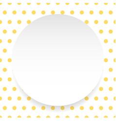 blank circle sheet disc over polkadot pattern vector image