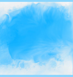 blue ink effect watercolor texture background vector image