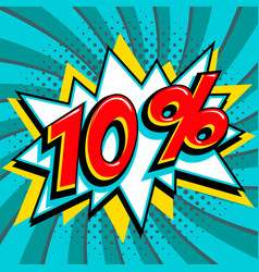 Blue sale web banner sale ten percent 10 off on a vector