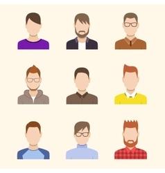 Boys Icons Set Team Concept vector image