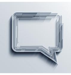 bubble speech background Eps10 vector image