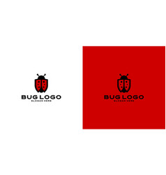 Bug clip art icon logo premium vector
