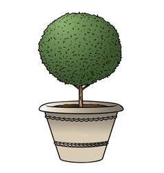 bush pot vector image vector image